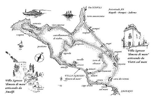 cartina storica antica villa sgrosso dimora di mare